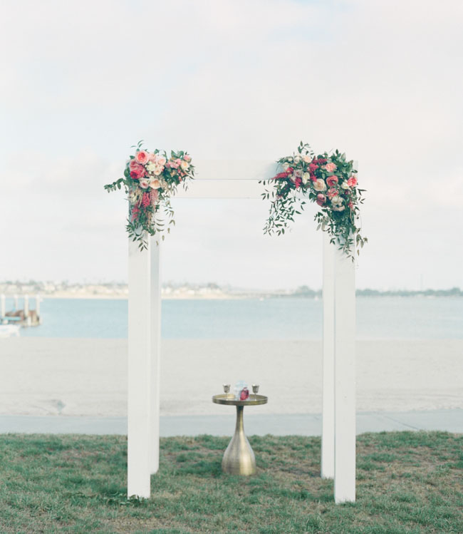flower arbor by the ocean