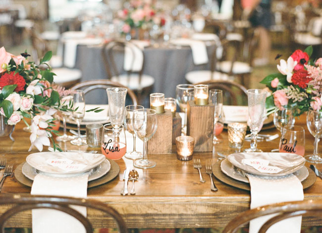 rustic table reception