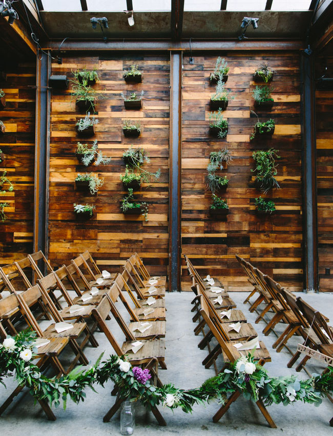 plant wall ceremony