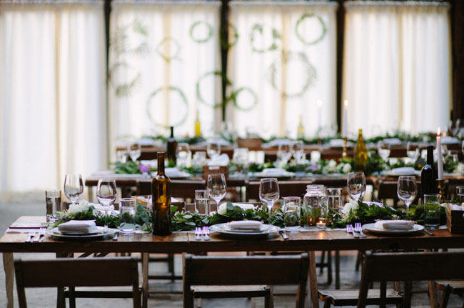 rustic garland tablescape