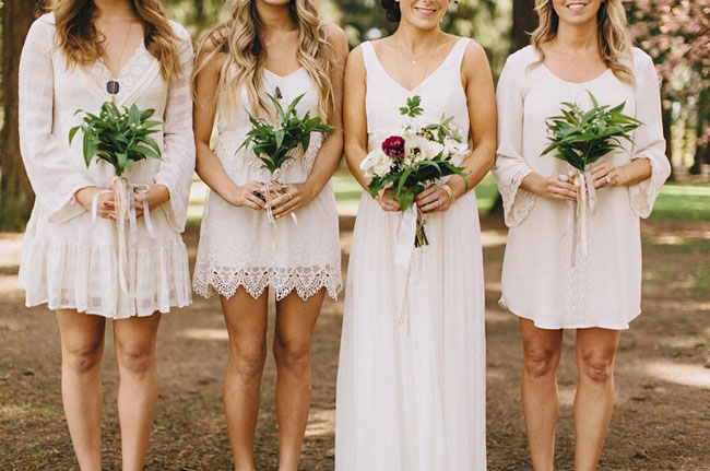 boho lace bridesmaids
