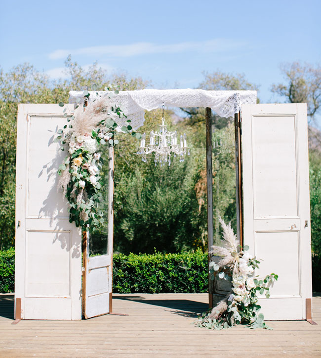 Rustic Door Wedding Ideas: Cotton-filled Cali Barn Wedding: Heather + Freddie