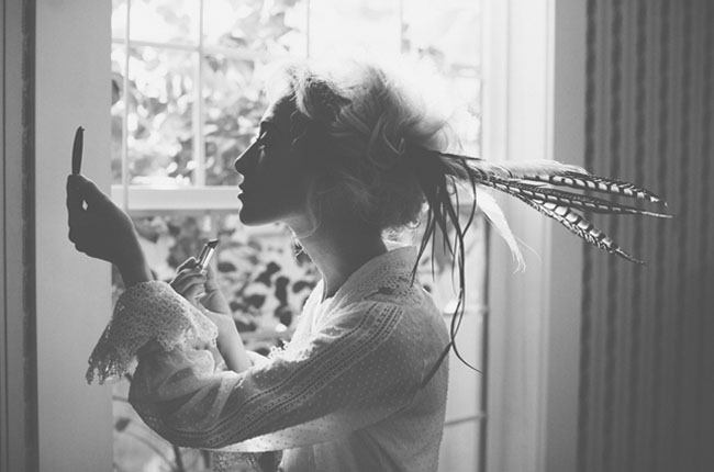 Edwardian feather bride