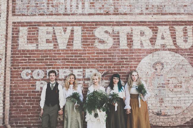 Edwardian bridesmaids