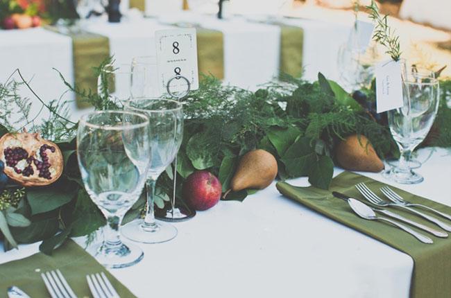 fruit table decor