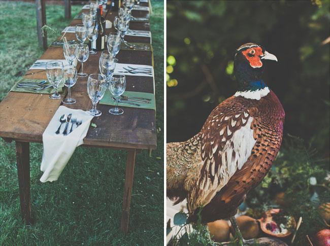 pheasant table decor