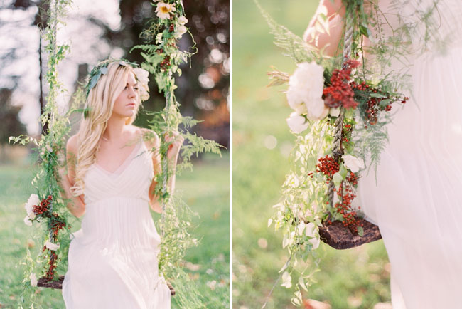 berry floral swing