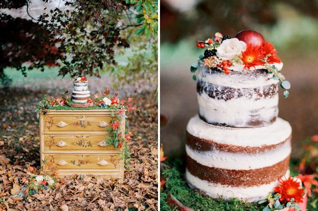 holiday inspired naked cake
