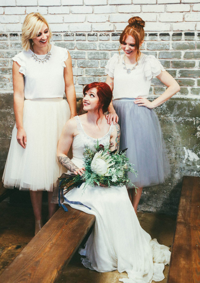 tulle skirt bridesmaids