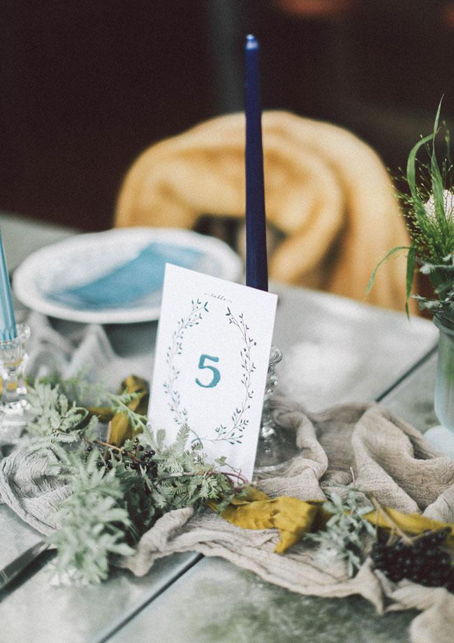 indigo blue table number