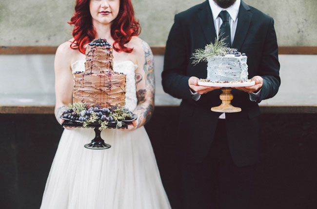 winter inspired wedding cakes