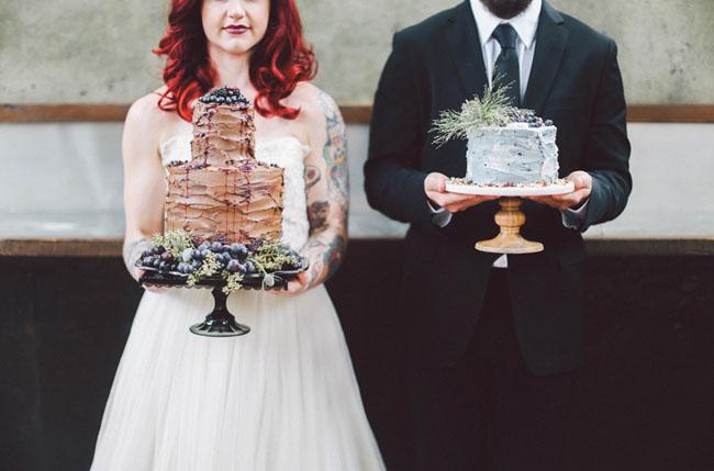 winter inspired wedding cakes