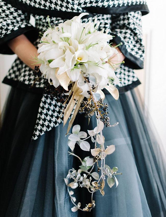 Italian inspired cascading bouquet