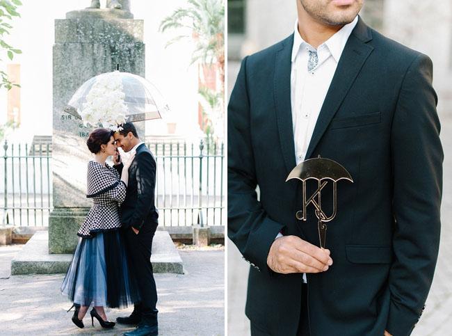 umbrella + initials