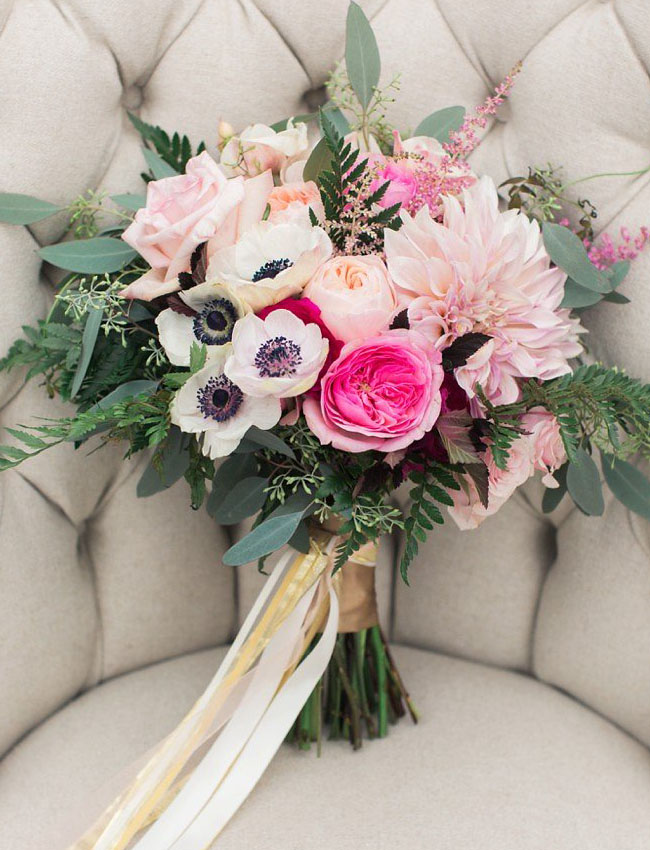 girly pink bouquet