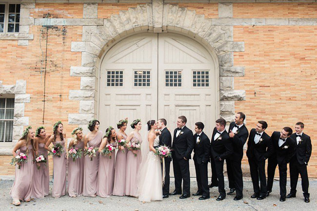 romantic wedding party