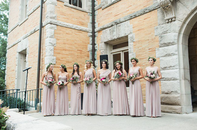 dusty pink bridesmaids