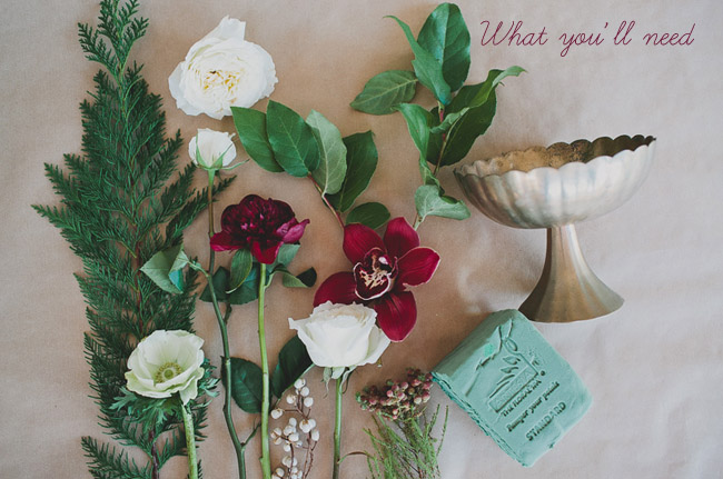 winter floral centerpiece