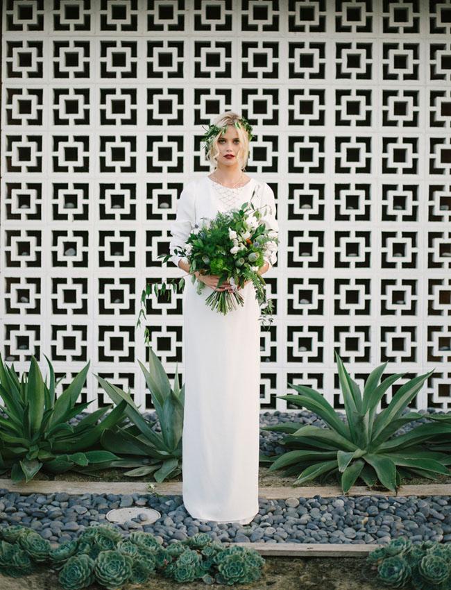 midcentury modern bride