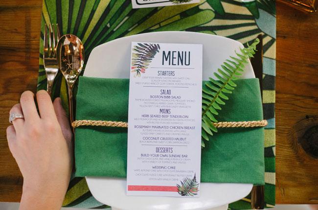 fern plate setting