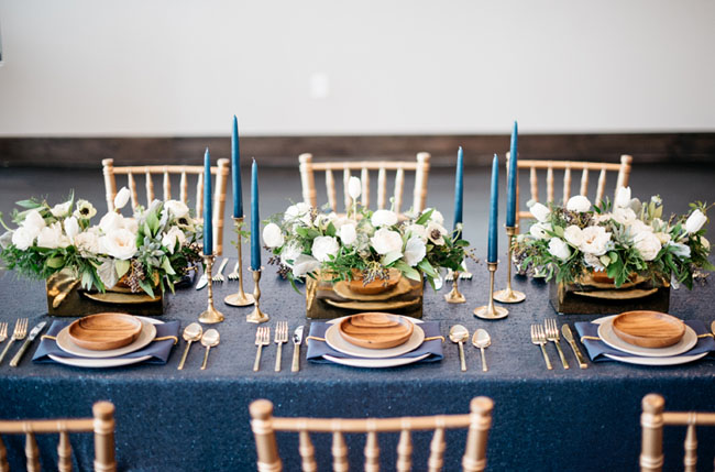 sparkly blue tablecloth