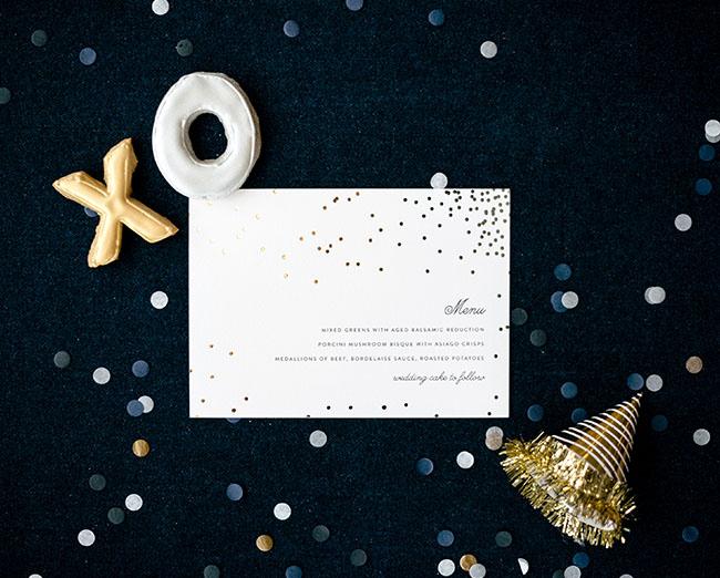 gold dot menu