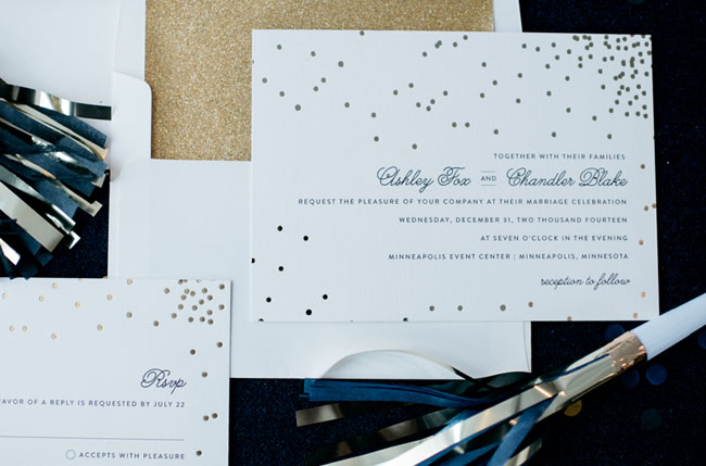 gold dot invitation