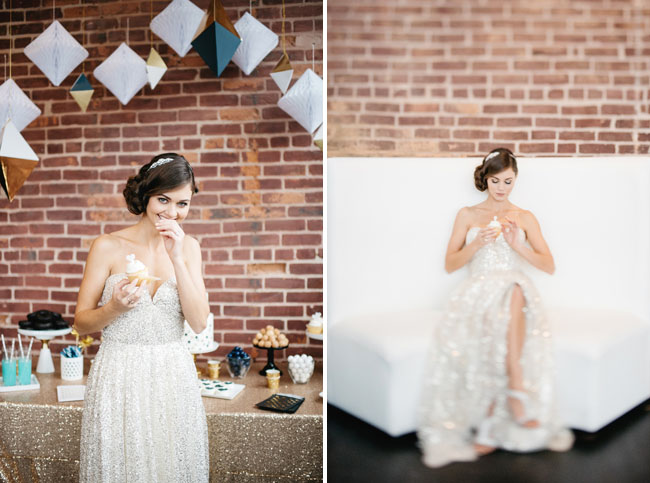 silver sequin wedding dress