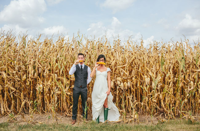 corn maze wedding