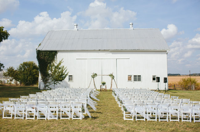 Ohio barn ceremony