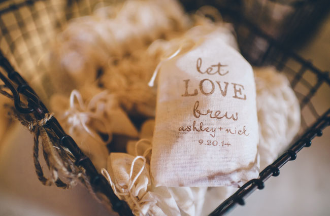 coffee ground favors