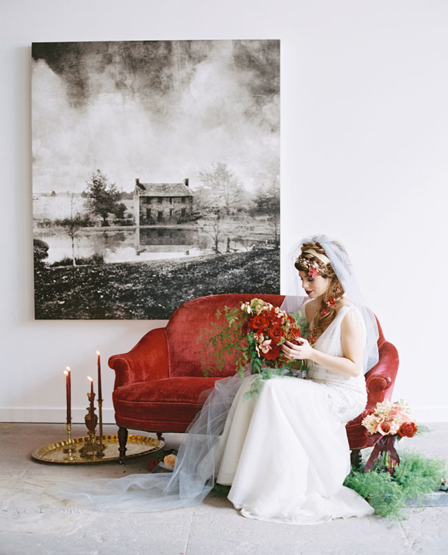Shakespeare inspired bride