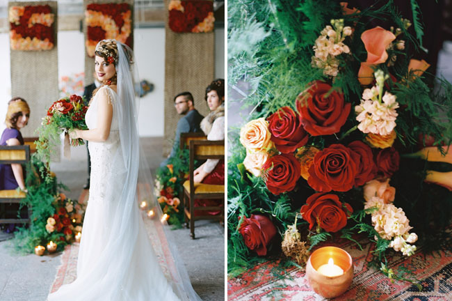 flower aisle decor
