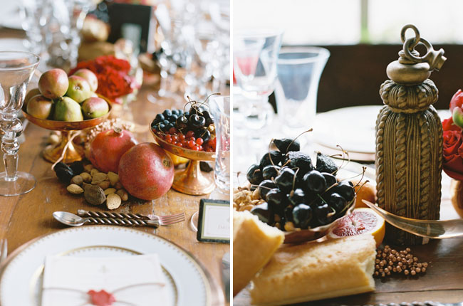 berry and fruit table decor