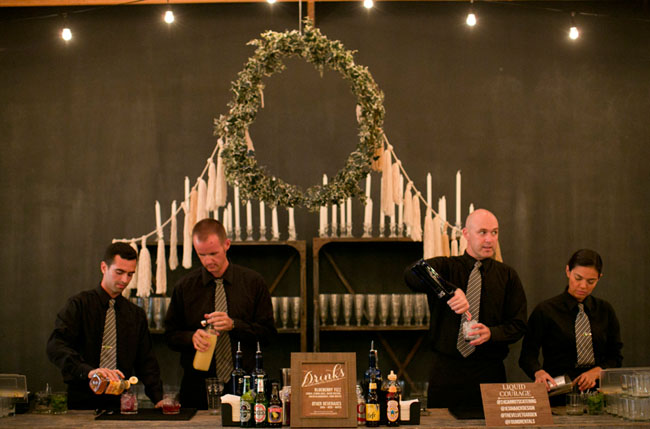 wreath candle bar