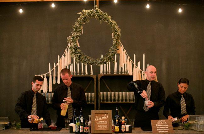 wreath candle bar