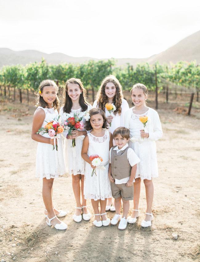 flower girls and a ring bearer