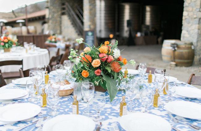 tropical reception florals