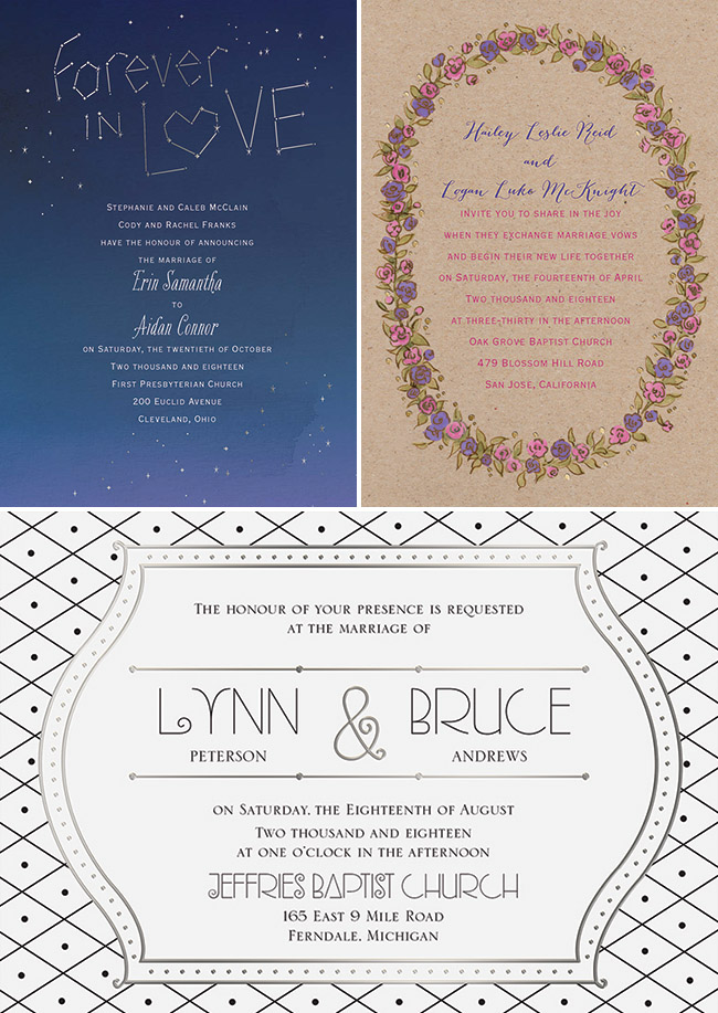 Wedding Invitations by Dawn