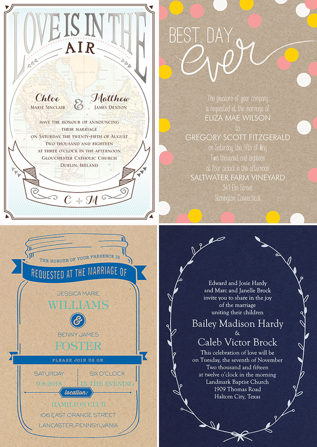 Wedding Invitations from Invitations By Dawn - Green Wedding Shoes