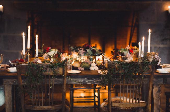 wintery tablescape
