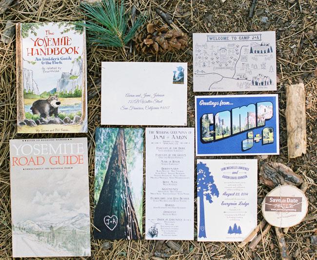 Yosemite wooded invitation