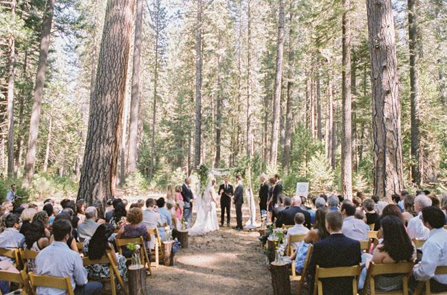 Yosemite wooded ceremony