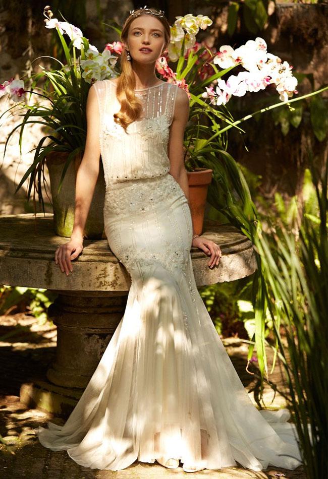 BHLDN glam wedding dress
