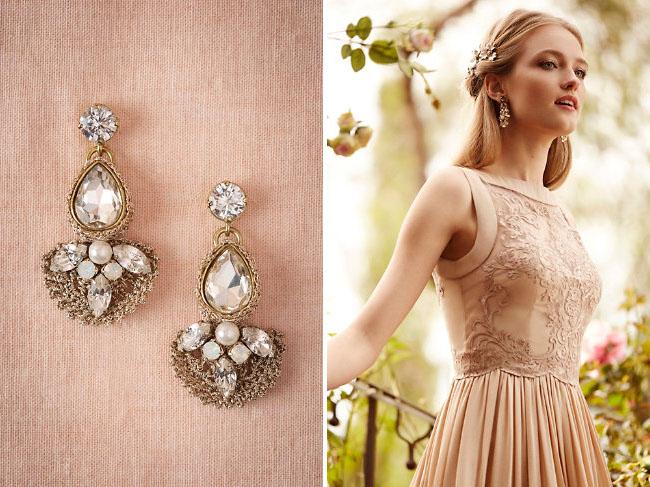 blush wedding dress from BHLDN
