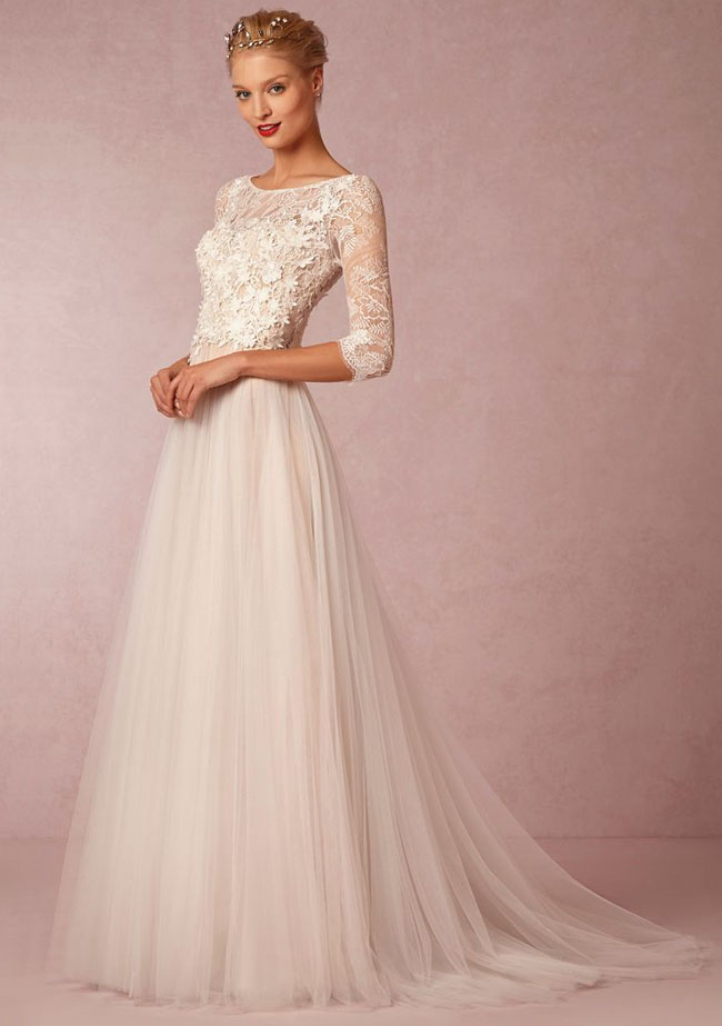 lace wedding dress from BHLDN
