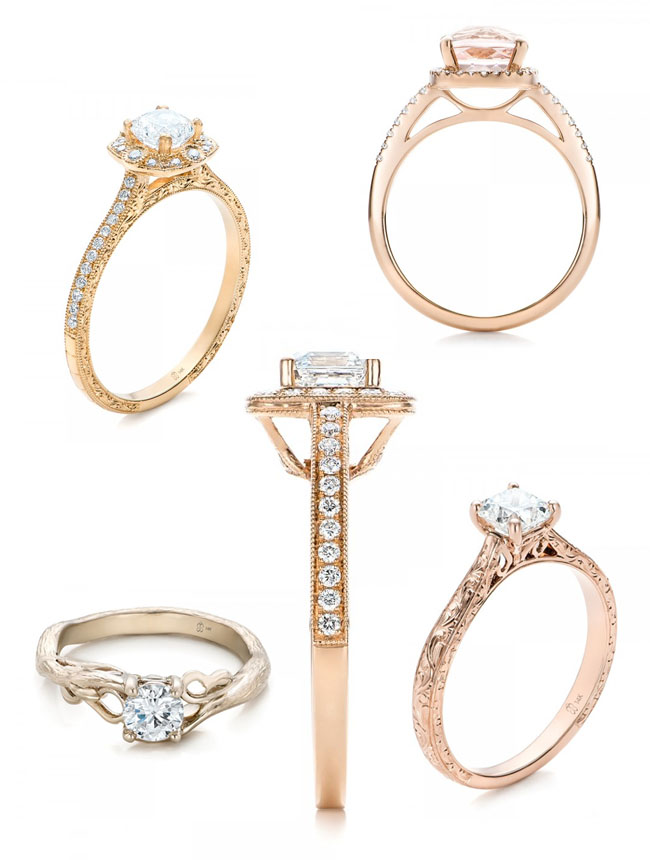Joseph Jewelry custom engagement rings in rose gold
