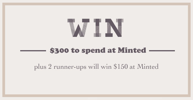 Minted $300 Giveaway