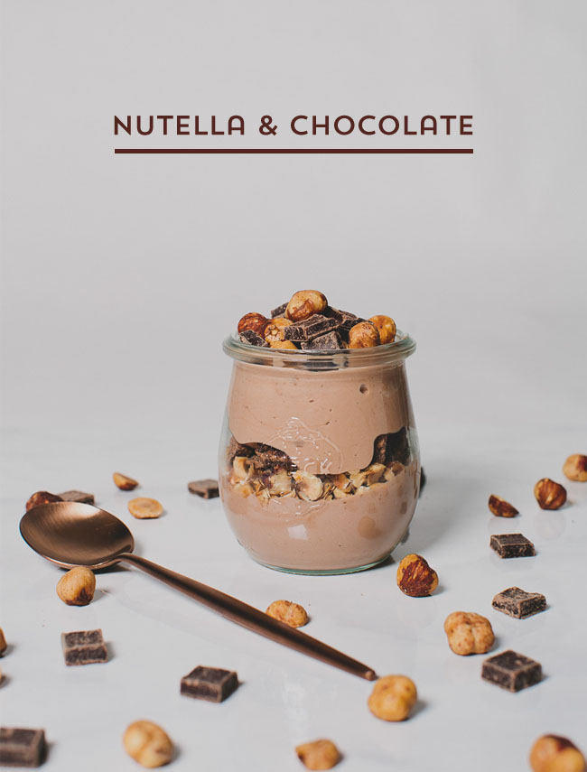 Nutella & chocolate parfait