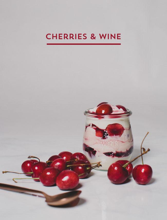 cherries & wine